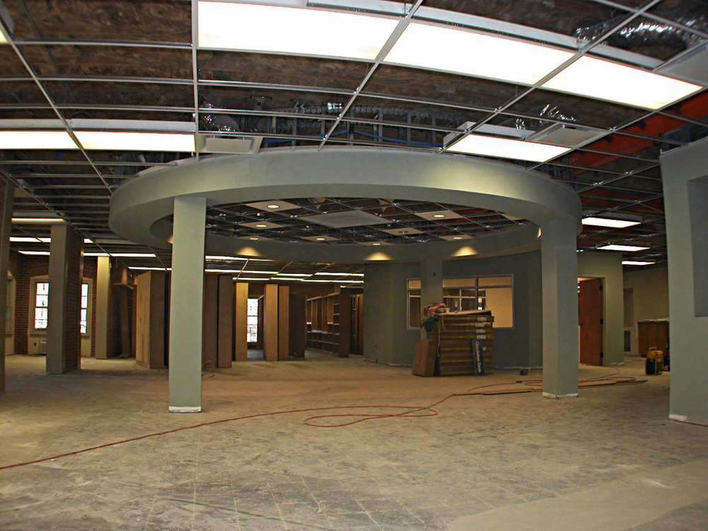 Central Reading Area (during construction)