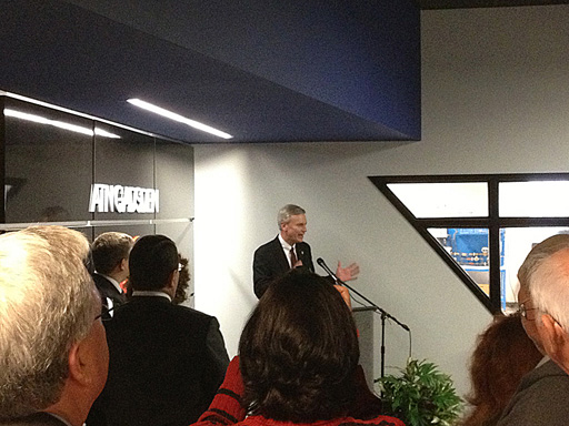 Dr. Mark Heinrich, Chancellor of the Alabama Community College System, addresses the crowd