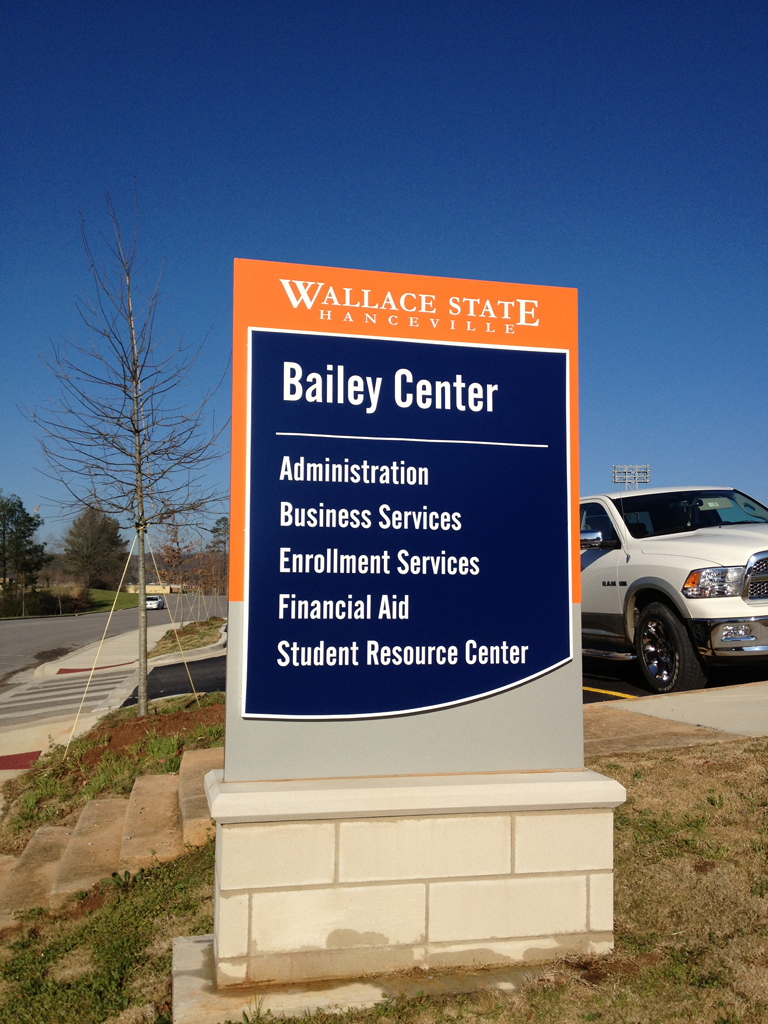 Building Monument Sign   |  Wallace State Community College
