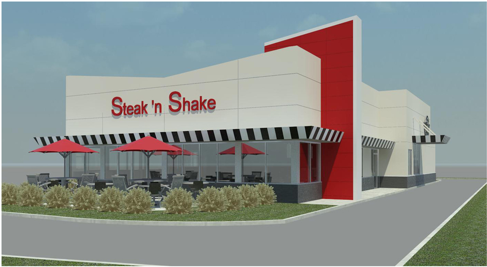New Steak 'n Shake Location   |  Rendering from Northwest