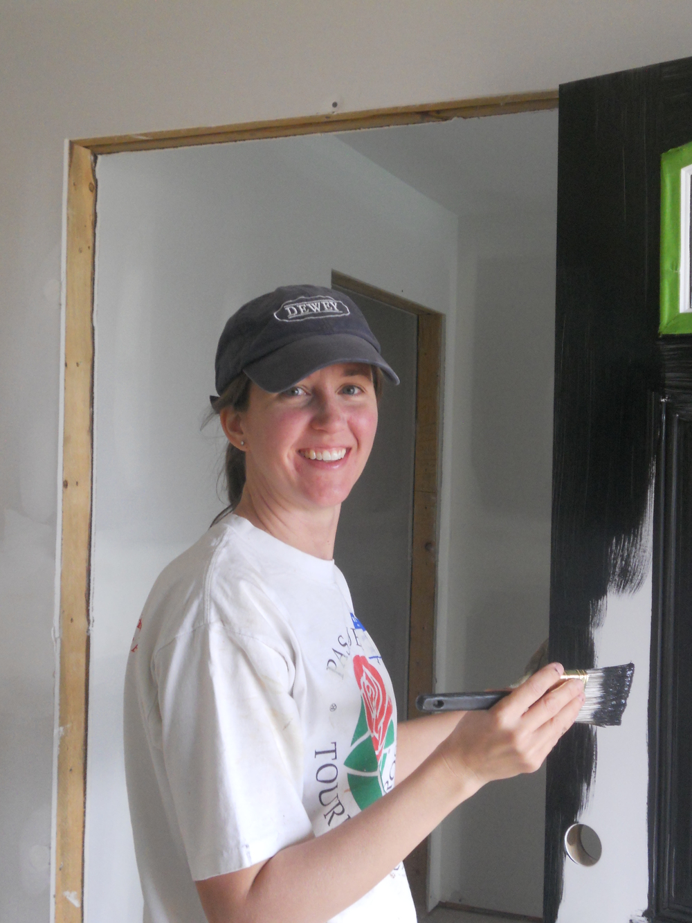 20131003 8 Habitat for Humanity Jennifer's Painint of Front Door.JPG