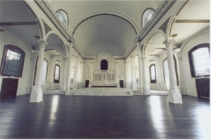 Restored cathedral of Saint Vibiana now a venue for film and fashion shows and award programs and other celebrations.