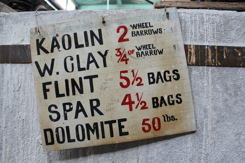 "This recipe for clay is hilarious because of the ""exact"" measurements AKA ""two wheelbarrows of Kaolin""."