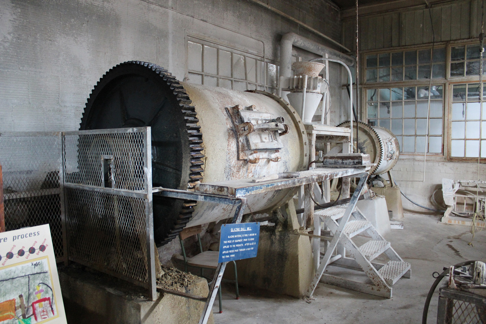 This is a ball mill used for grinding the materials into very fine particles of clay.