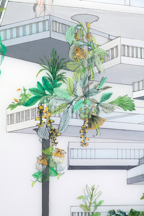 Vertical Garden (Tropical), detail