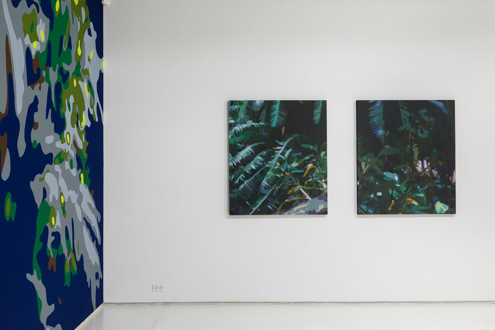 Paradise Constructed  installation view at Mixed Greens, New York, NY.  Photograph by Etienne Frossard