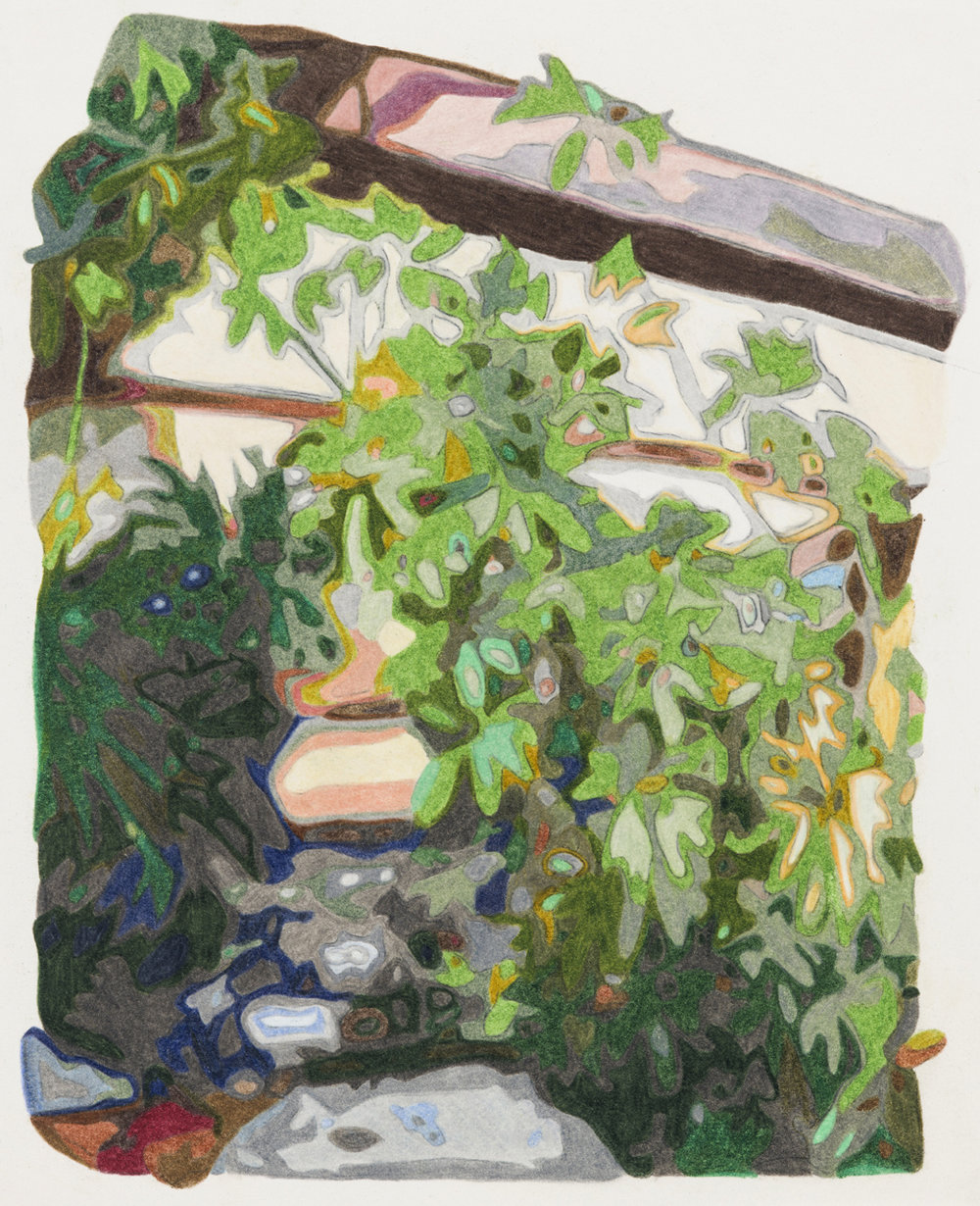 Sun room, Taliesin West , colored pencil on paper, 10 x 8 inches, 2018.  Photography by    Paul Takeuchi