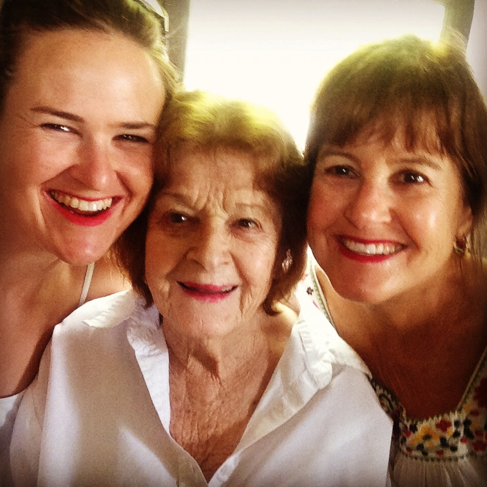 Spent quality time with my wonderful grandmother Saralee Halprin, who passed away peacefully in her home in November 2014. I wear her lipstick every day. Learn more about her amazing life at saraleehalprin.org.