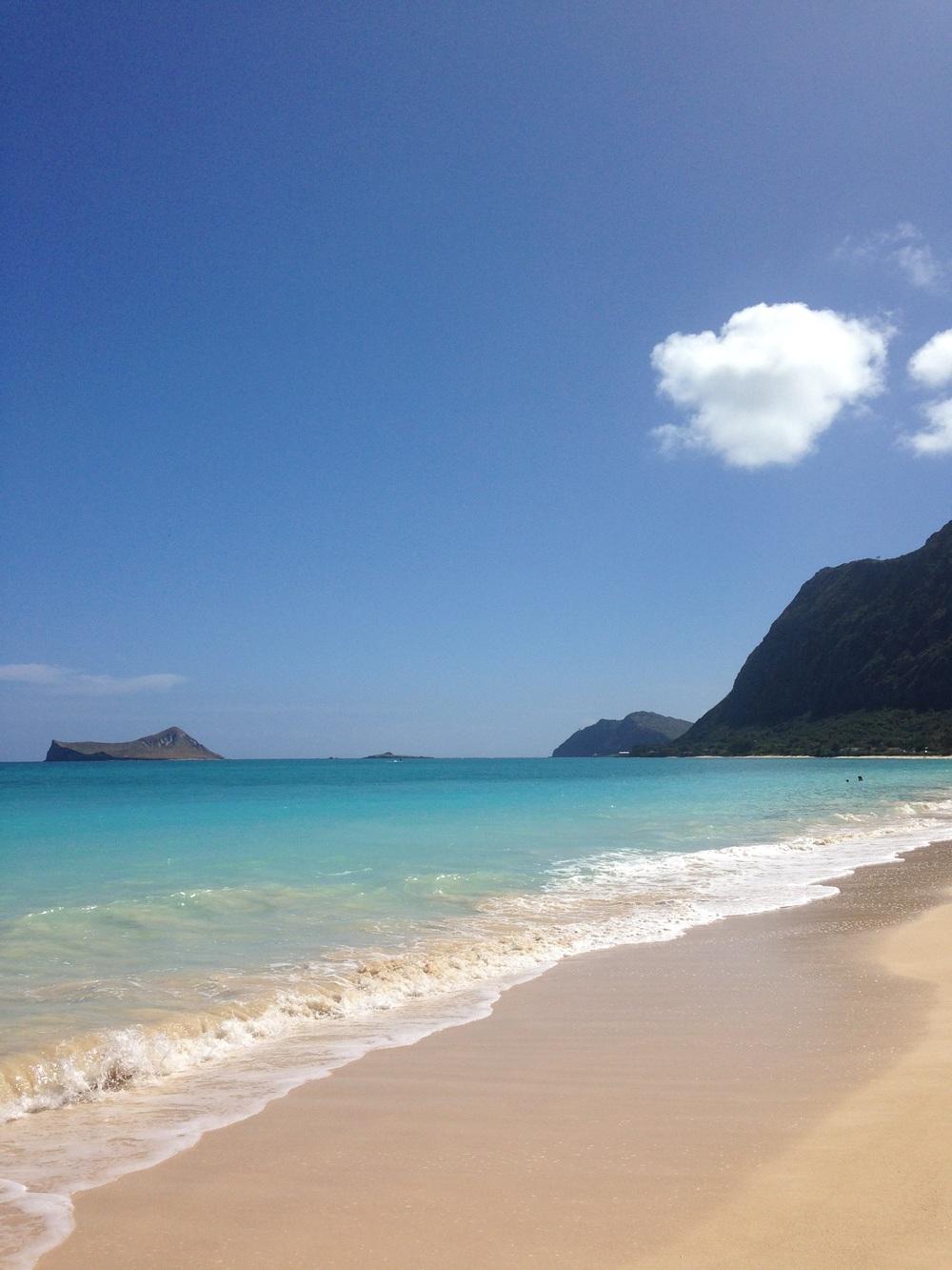 Waimanalo, my favorite beach.