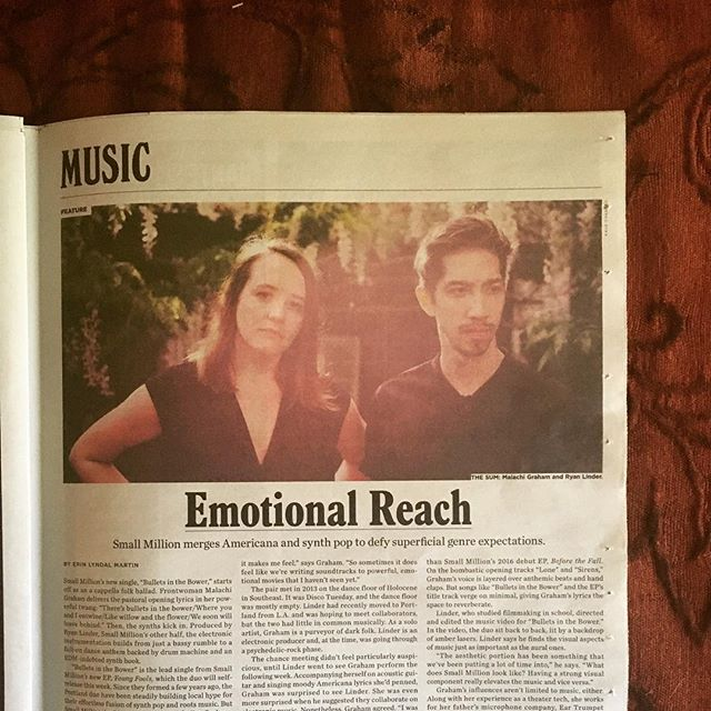 🙀 @willametteweek -  @bryanblinder and I had a baby (gestated for way longer than 9 months) and it's our Young Fools EP. Release show tonight (wednesday) at @mississippistudios. Cannot wait. 9 pm. @small.million party!