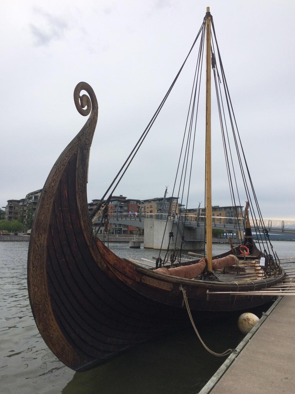 Saga Oseberg ved kai i Tønsberg. Foto: Nina Granlund Sæther
