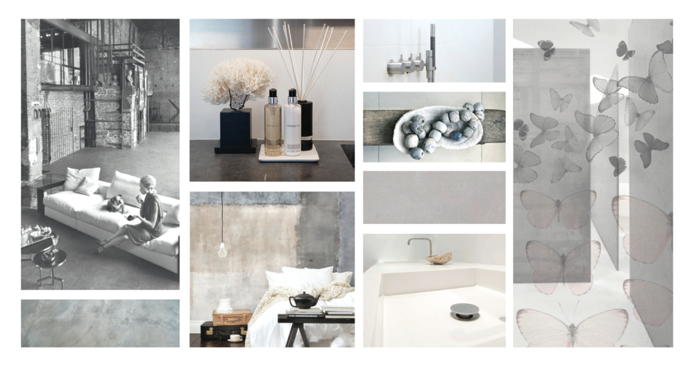 Moodboard industrial home