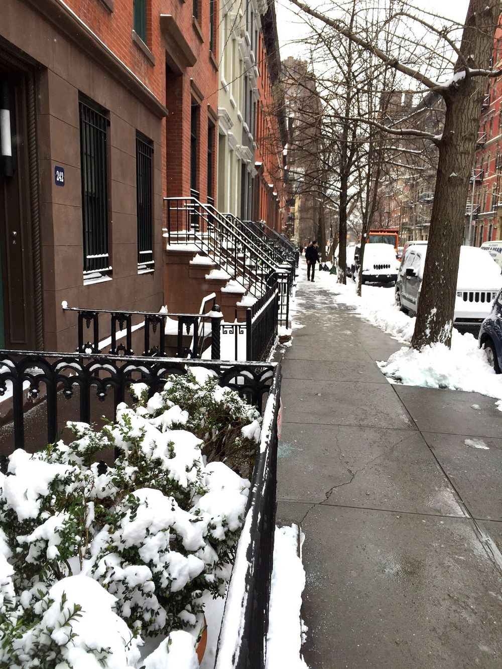 The West Village on January 27, 2015, the morning after NYC's 'biggest blizzard ever'.