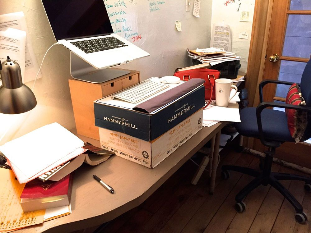 (NB: DIY standing desk...)