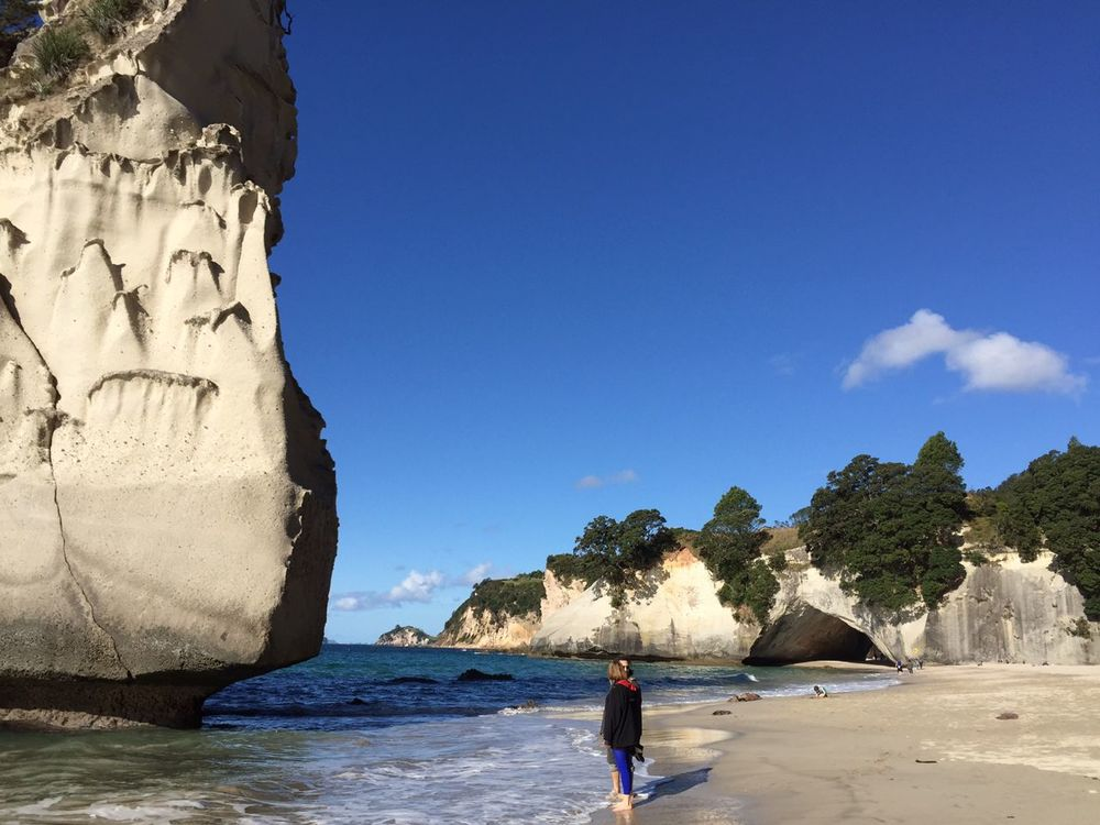 More at the beach at Cathedral Cove