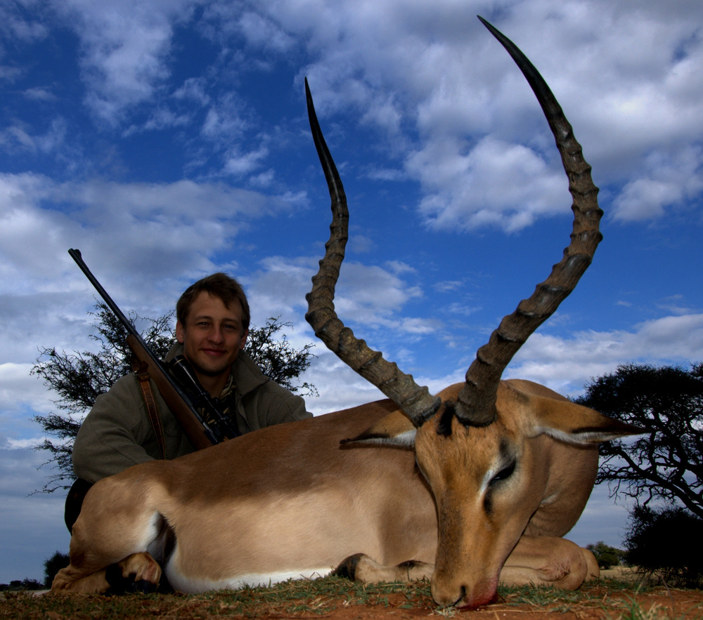 Another great impala trophy hunted by Alexei Skok