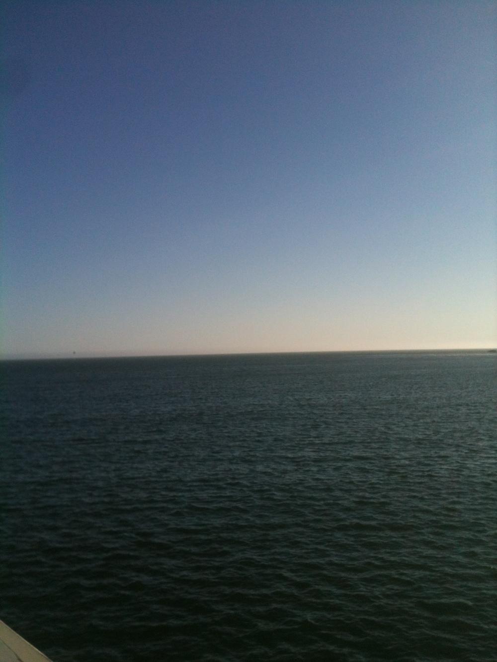 the sea meets the sky - santa cruz