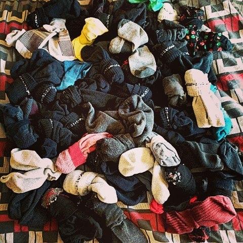 Step 36 to saving money, stop buying new socks.