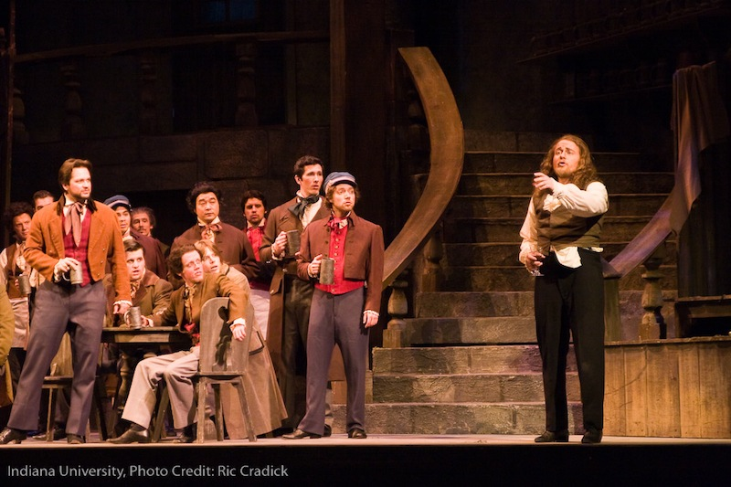 IU Opera Theater,  Les contes d'Hoffmann    photo credit: Ric Cradick  with: Nathan Brown, IU Opera Chorus