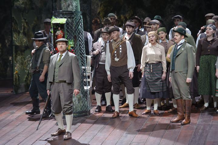 Theater Aachen, Der Freischütz   photo credit: Ludwig Koerfer  with: Woong-jo Choi, Stefan Hagendorn,Pawel Lawreszuk, Opernchor Aachen