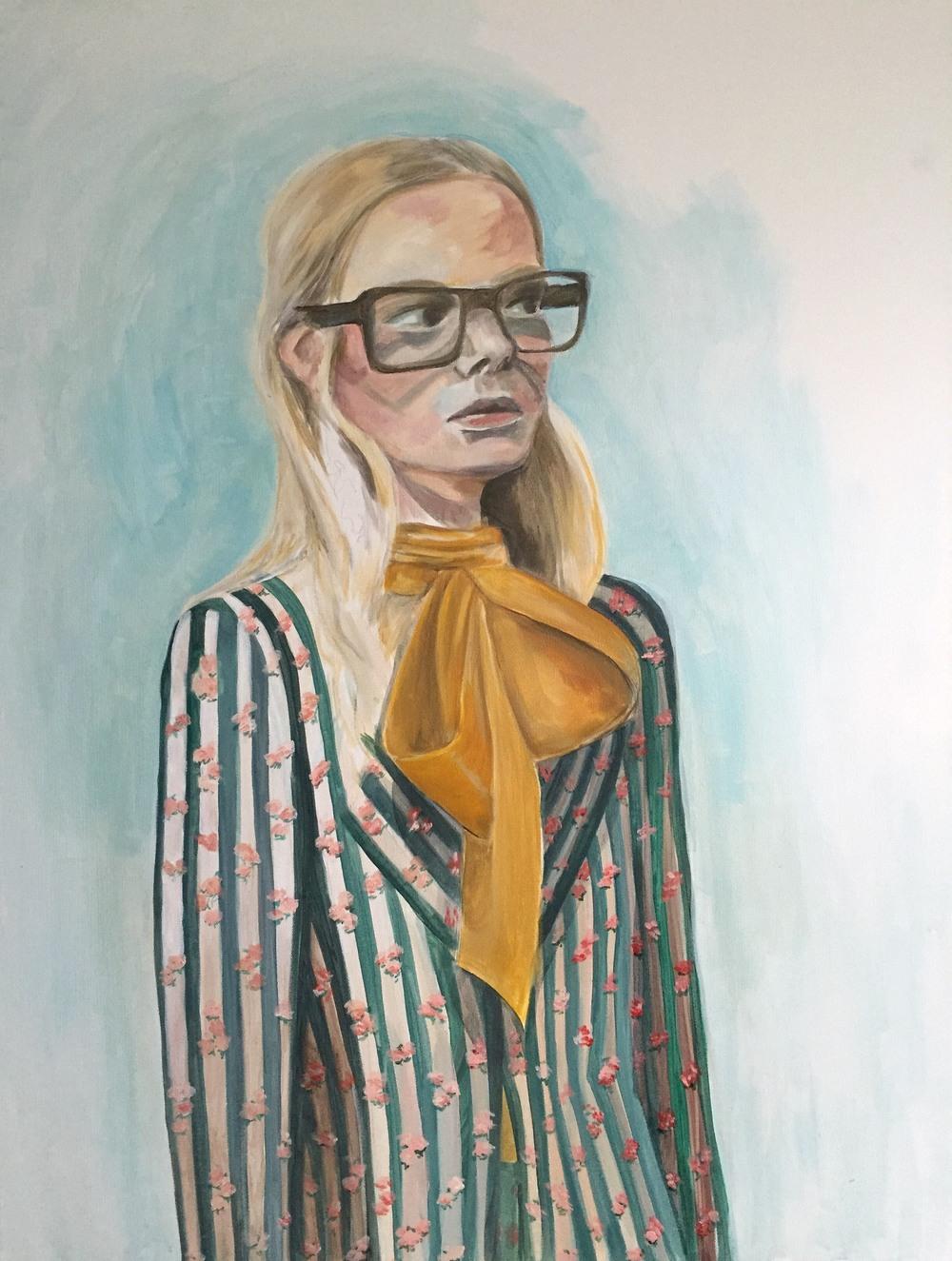 "Gucci Girl   36"" x 48""   Acrylic on canvas   2015"