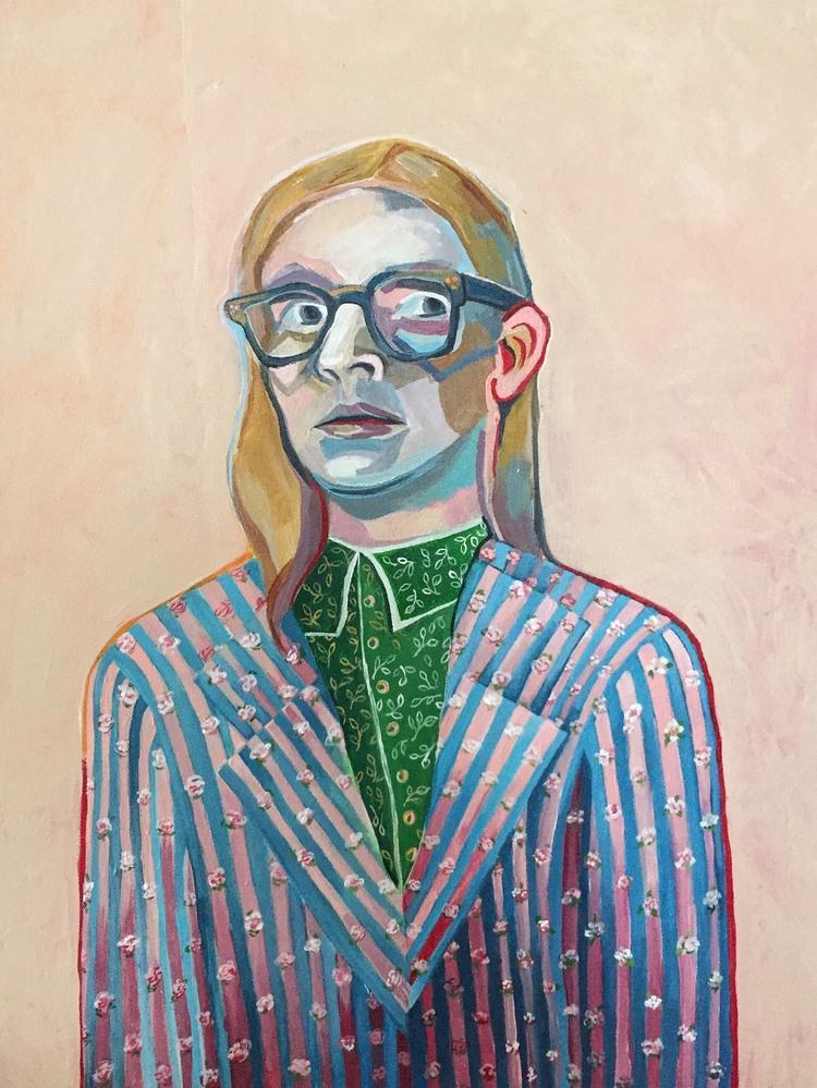 "Screaming Internally   18"" x 24""   Acrylic on Canvas   2015"