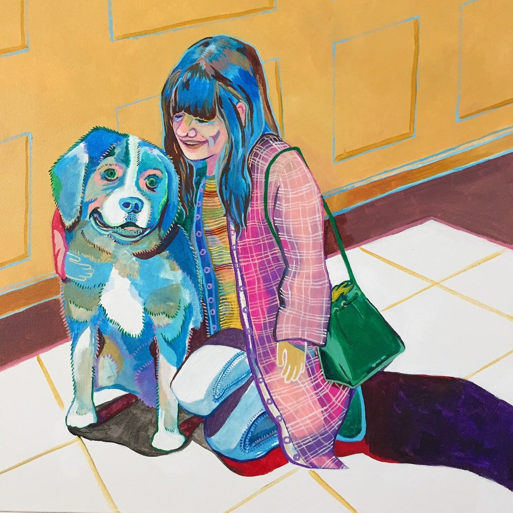 "Julia  24"" x 24""   Acrylic on canvas   2015"