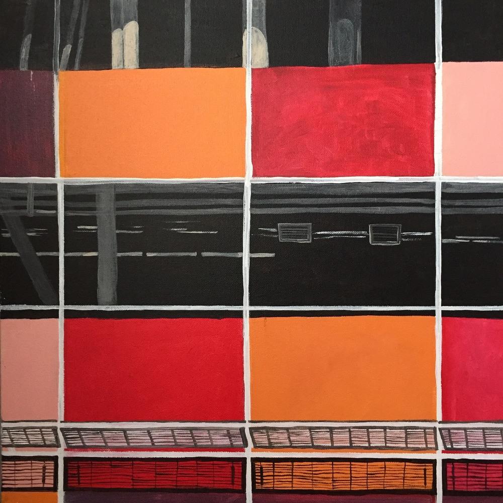 """Paul Smith San Francisco  24"""" x 24""""   Acrylic on canvas   2015"""