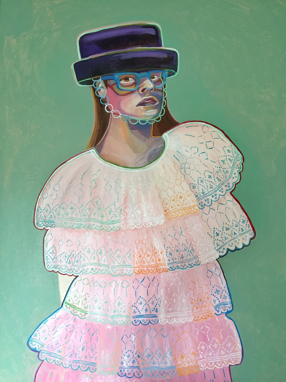 "Princessa Chanel  36"" x 48""   Acrylic on canvas   2015"