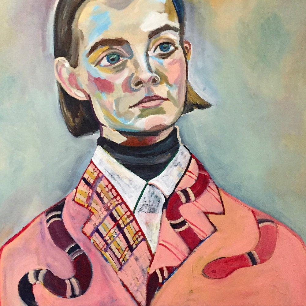 "Untitled  36"" x 36""   Acrylic on canvas   2016"