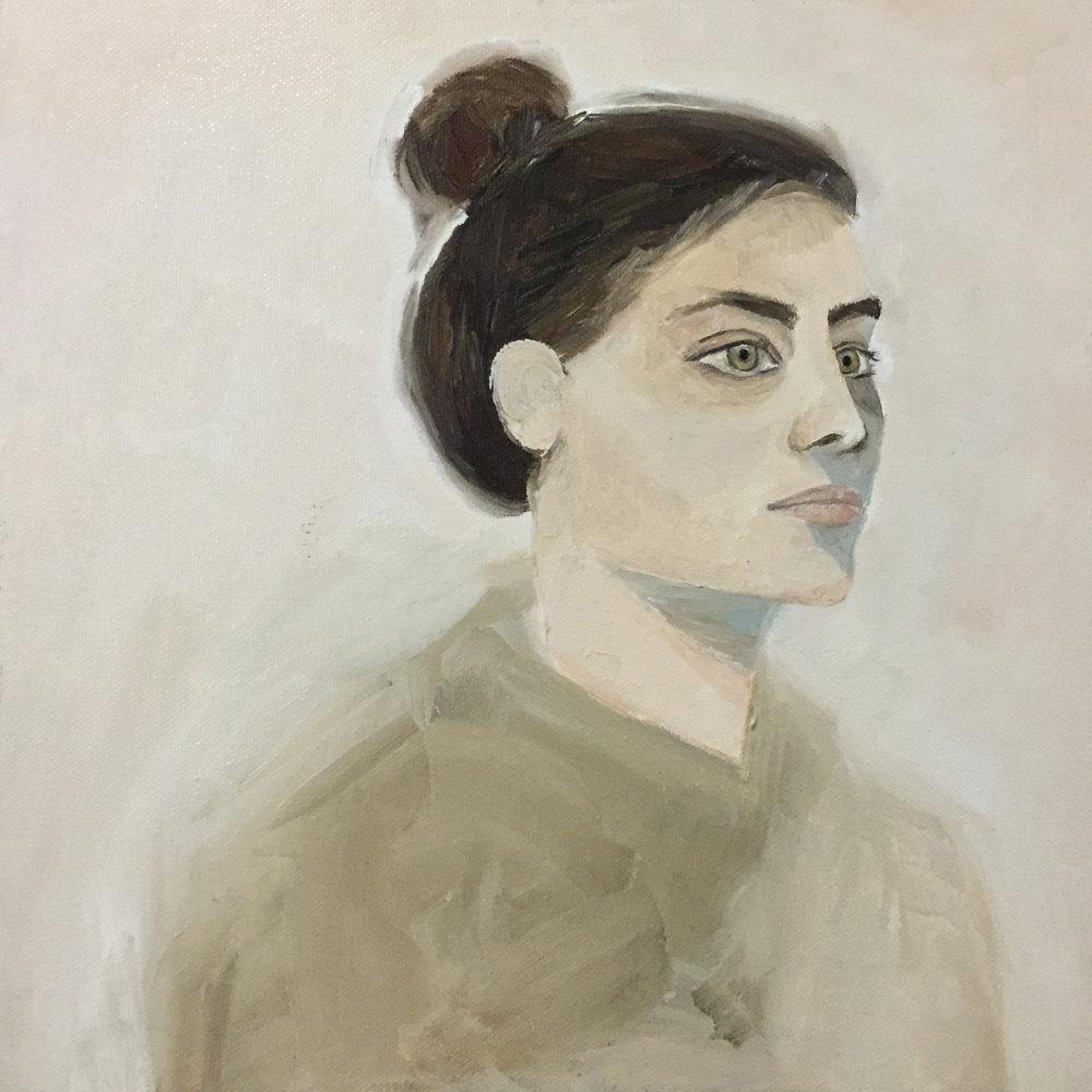 """Alexa Study  10"""" x 10""""  Acrylic on canvas  2015"""