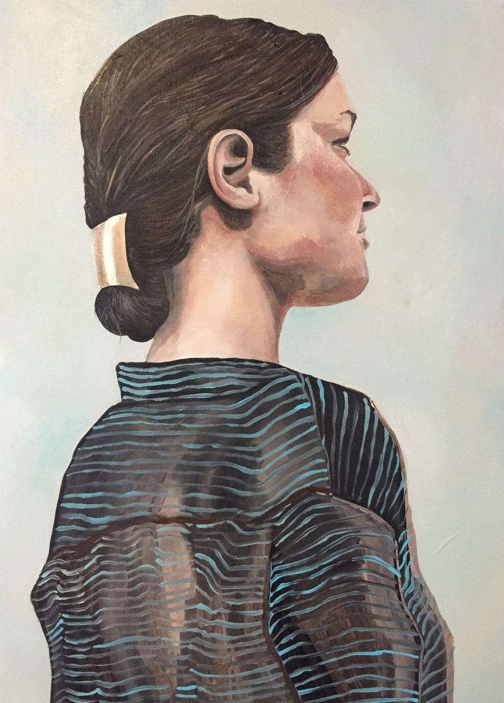 """Amy  18"""" x 24""""   Acrylic on canvas   2016"""