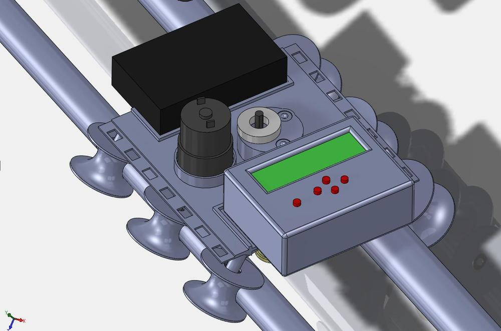 A SolidWorks rendering showing one of the initial platform designs.