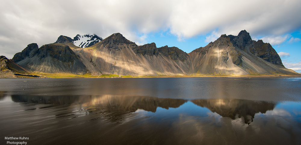 Click to Enlarge: Mountains near Hofn Iceland.