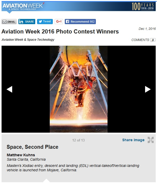 Aviation Week Photo Contest 2nd Place