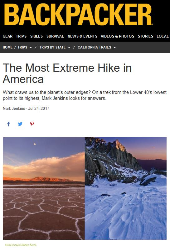 Backpacker - Extreme Hikes