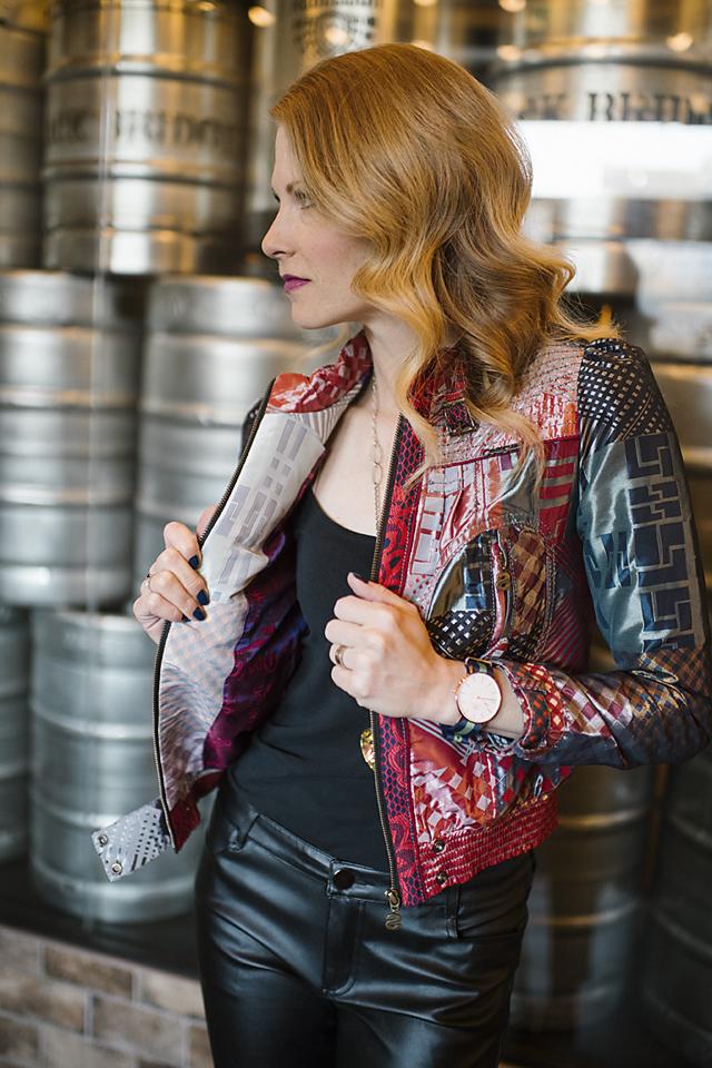 Multi pattern jacket -