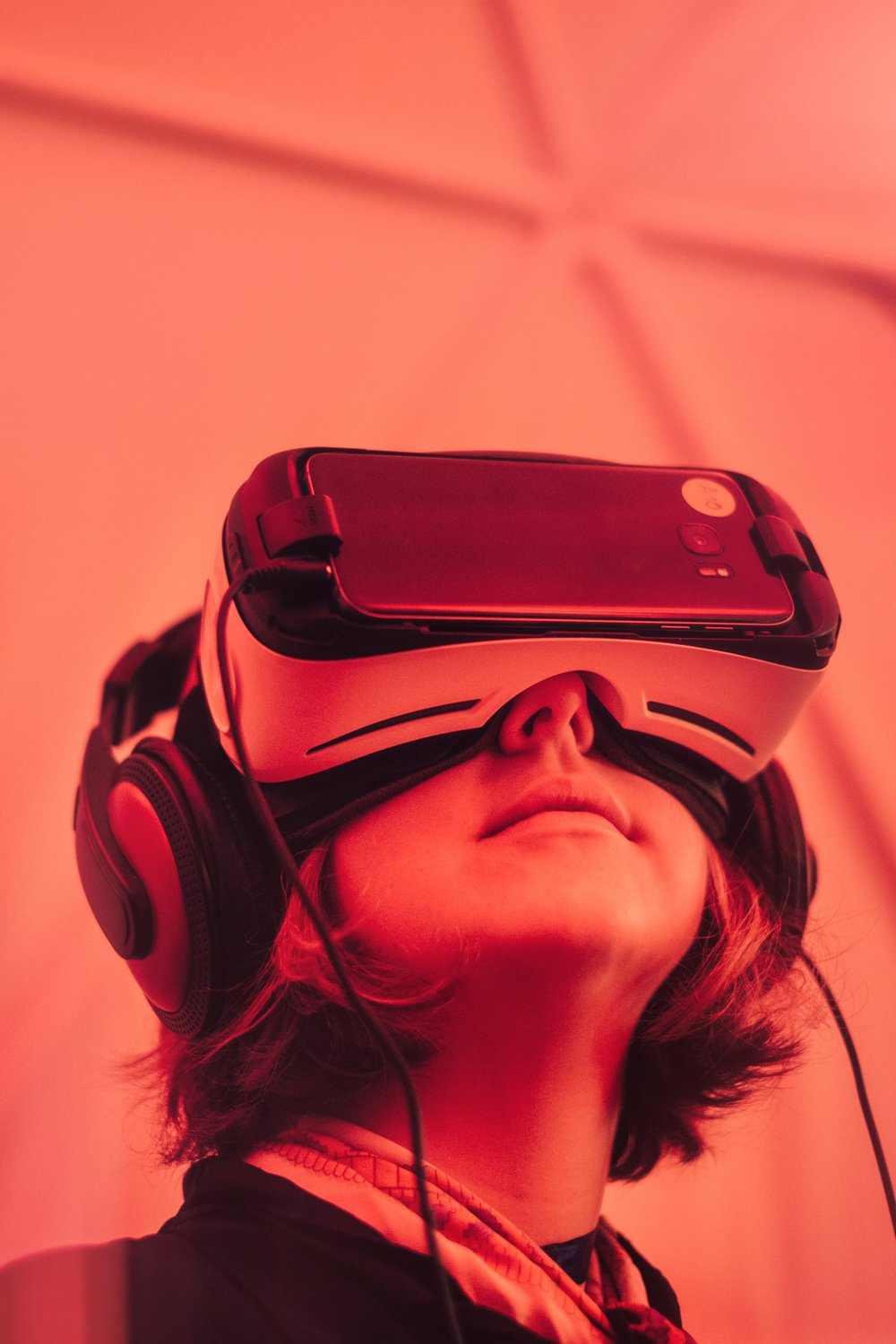 AR vs VR - AR is different from VR. In the instance of Virtual Reality, a headset or visual device is used to immerse you in a virtual/digital environment, whereas AR blends both the digital and real world.