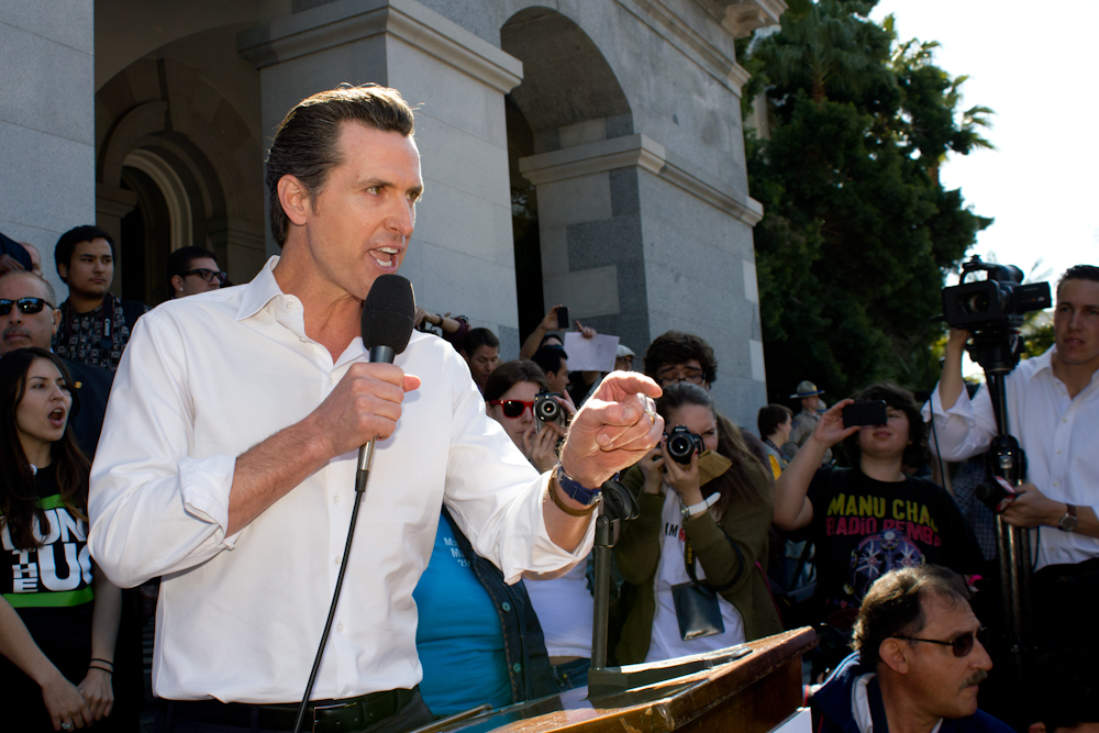 Lt. Governor Gavin Newsom.  CA Capitol Building.  March 5, 2012