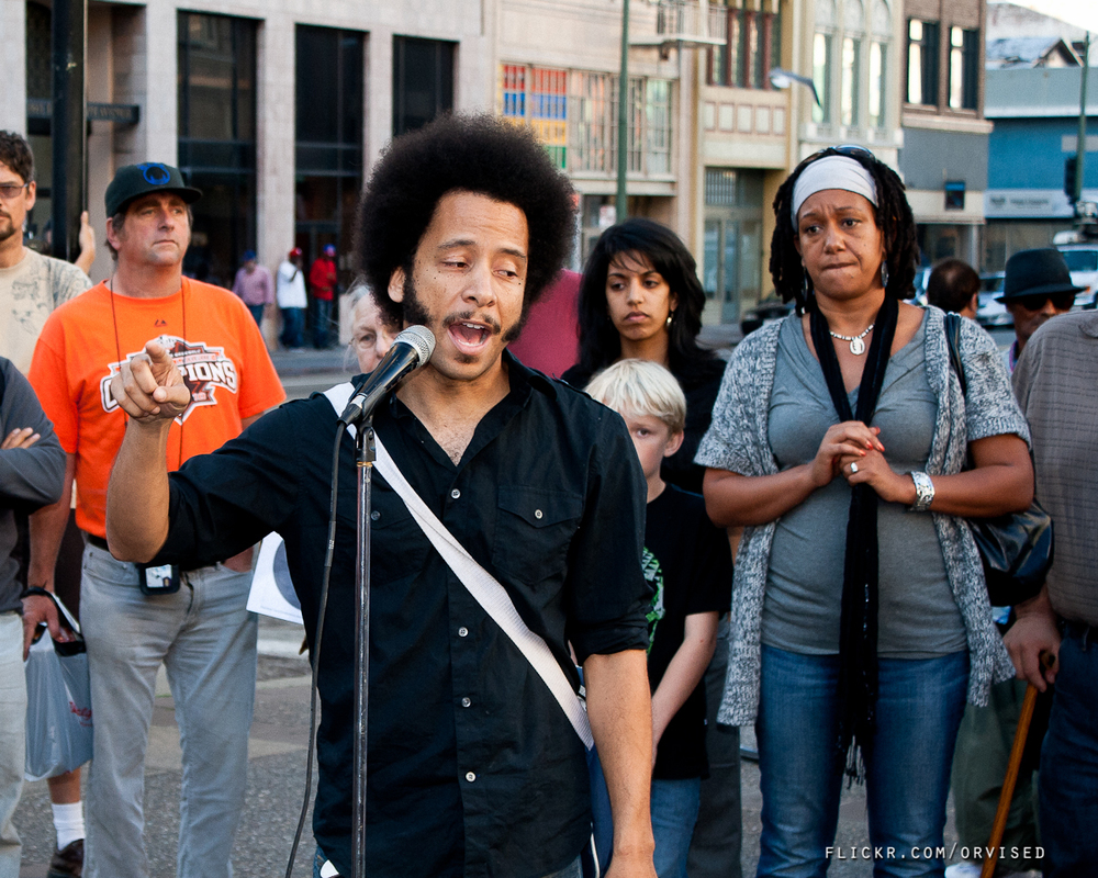 "Boots Riley at press conference for Nov 2 General Strike: ""The general strike is a warning shot for the 1%"""
