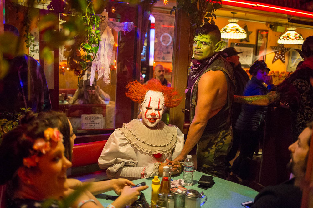 Scene from Orphan Andy's during Halloween celebrations in The Castro neighborhood of San Francisco, CA. October 31, 2017