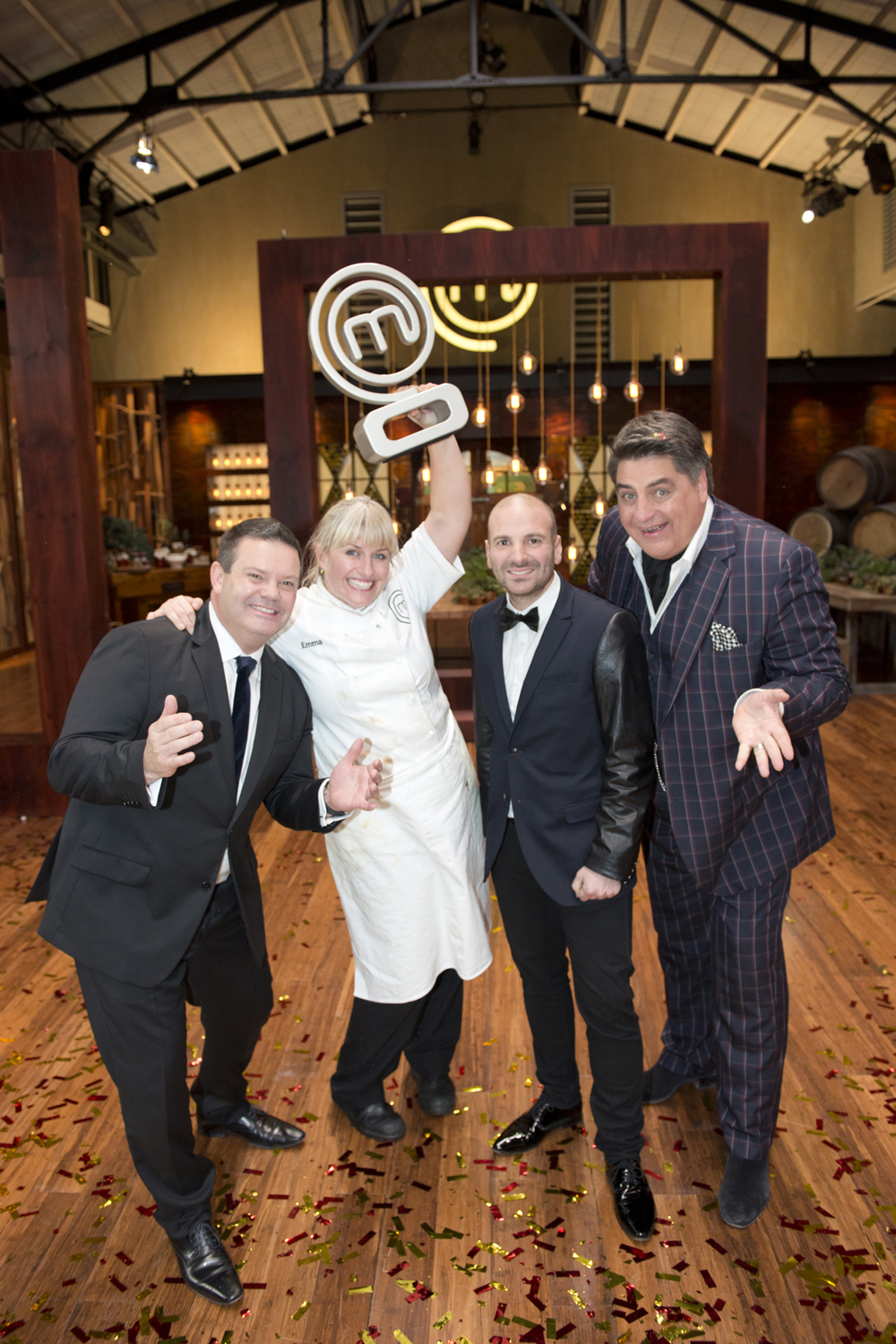 Gary Mehigan, Winner Emma Dean, George Calombaris and Matt Preston.