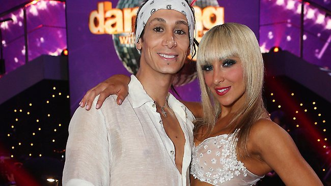 illusionist Cosentino with his now former partner Jessica Raffa