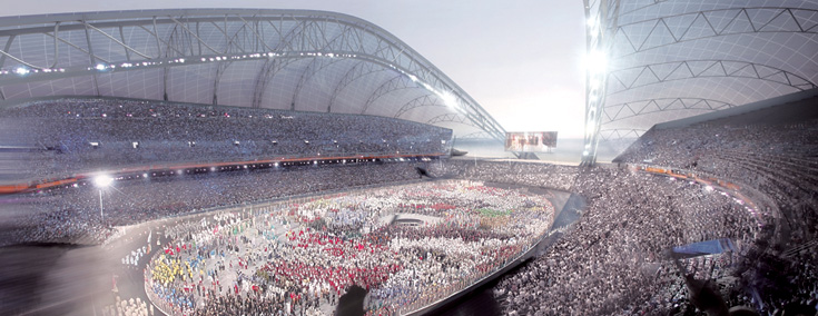 Artists Impression of Olympic Stadium in Sochi 2014