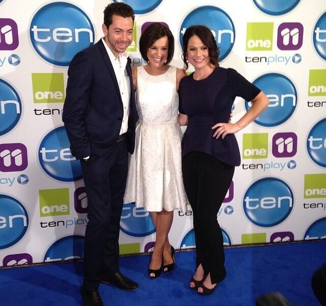 Tash, Tarsh and Matho walk the Red Carpet at Ten's 2014 UpFronts