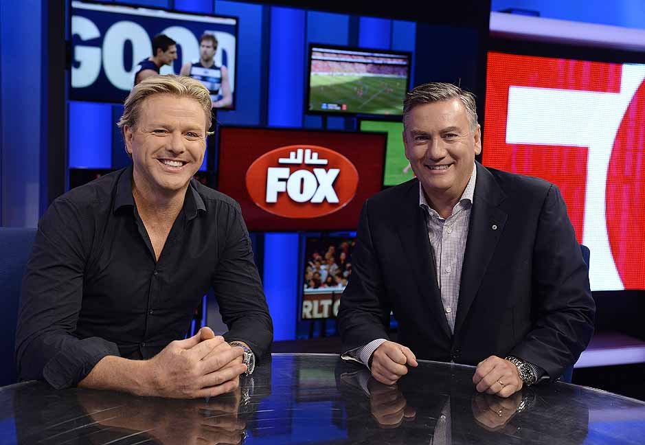 Dermott Brereton an  d Eddie McGuire  image - supplied