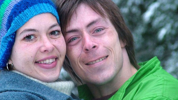 Tracy Connelly pictured with her partner Tony on holiday before her brutal murder Photo: The Age