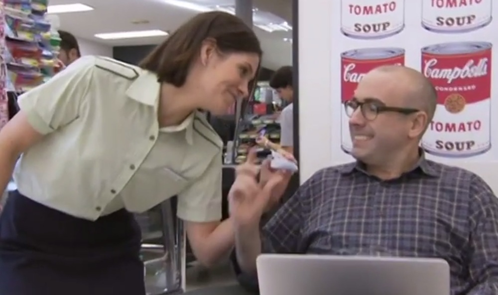 Julian Morrow on the pros and cons of buying your groceries online. image - ABC-TV