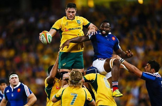 Australia scored seven tries to Les Bleus' two. That gave the Wallabies a one match lead in the 2014 Castrol EDGE France Tour. image - MSN