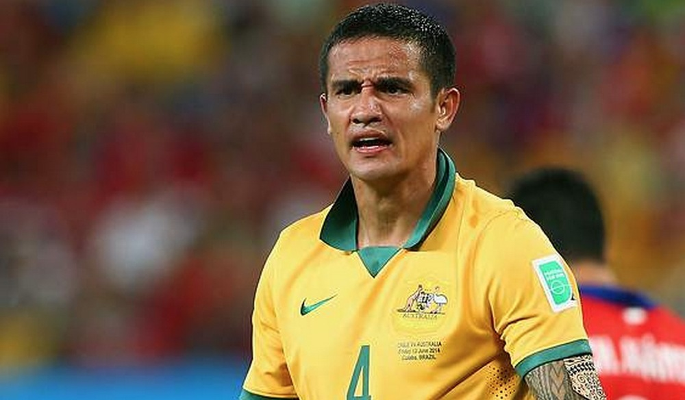 Australia watched on as our very own, Timmy Cahill headed the ball in the 34th minute of the game.  image copyright - Getty image source - http://theworldgame.sbs.com.au/